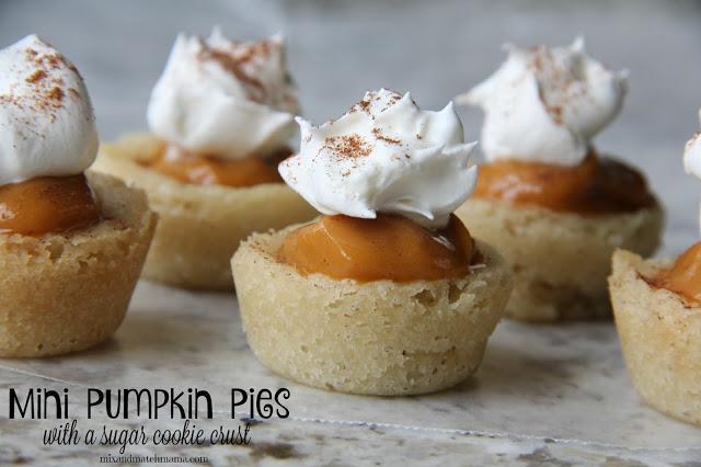 Mini Pumpkin Pies (With A Sugar Cookie Crust) Recipe, Mini Pumpkin Pies (with a sugar cookie crust!)