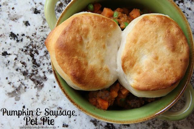 Pumpkin & Sausage Pot Pie Recipe, Pumpkin & Sausage Pot Pie