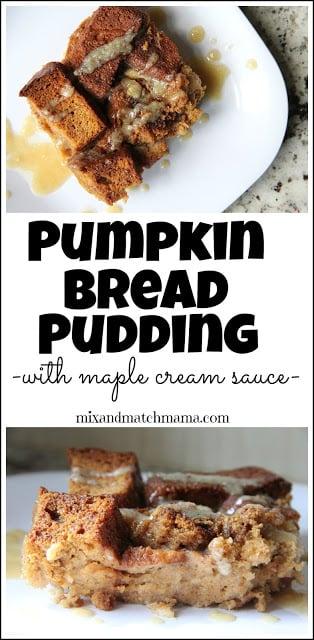 Pumpkin Bread Pudding With Maple Cream Sauce Recipe, Pumpkin Bread Pudding with Maple Cream Sauce