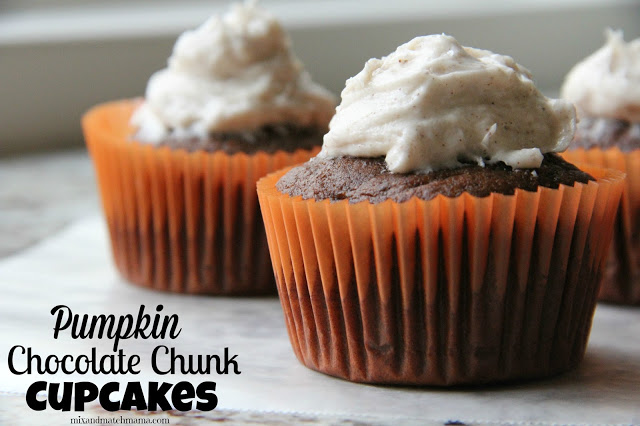 Pumpkin Chocolate Chunk Cupcakes Recipe, Pumpkin Chocolate Chunk Cupcakes