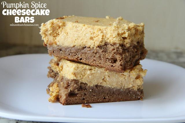 Pumpkin Spice Cheesecake Bars Recipe, Pumpkin Spice Cheesecake Bars