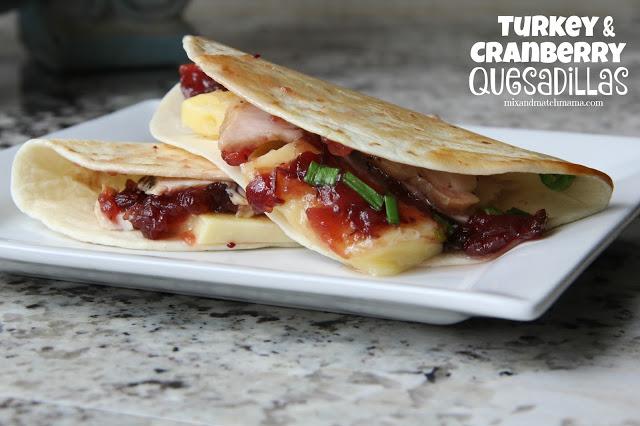 Turkey & Cranberry Quesadillas Recipe, Turkey & Cranberry Quesadillas
