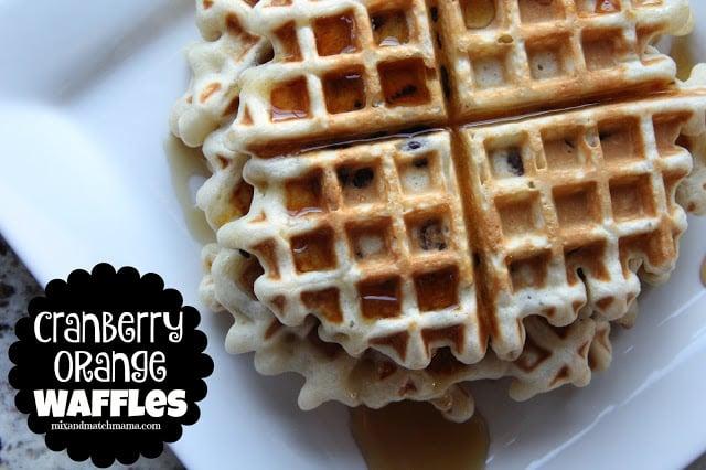Cranberry Orange Waffles Recipe, Cranberry Orange Waffles