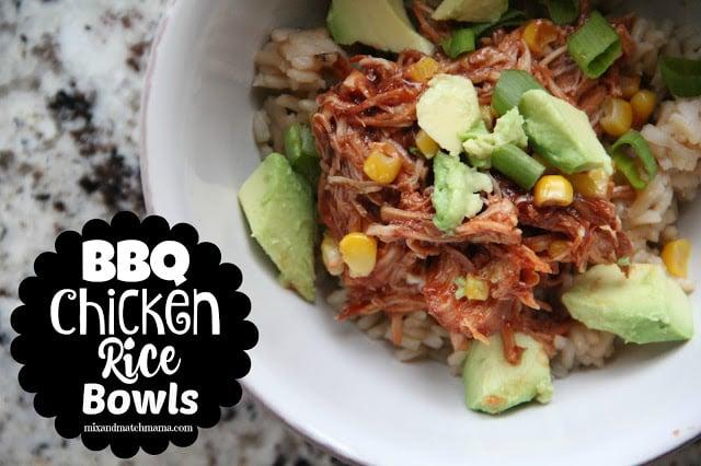 Bbq Chicken Rice Bowls Recipe, BBQ Chicken Rice Bowls