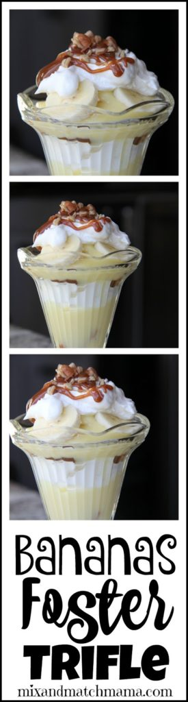 Bananas Foster Trifle | Mix and Match Mama