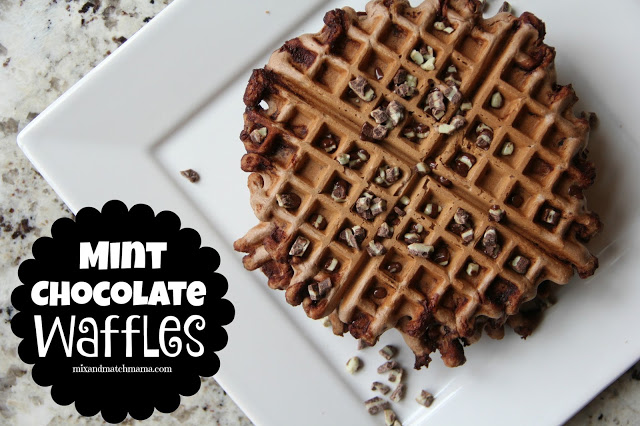 Mint Chocolate Waffles Recipe, Mint Chocolate Waffles