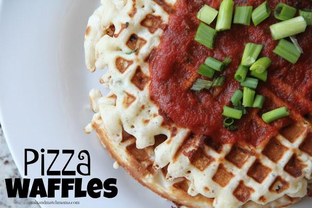 Pizza Waffles Recipe, Pizza Waffles