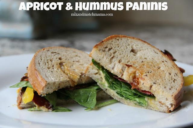 Apricot & Hummus Panini Recipe, Apricot & Hummus Panini