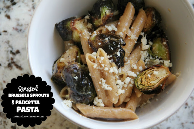 Roasted Brussels Sprouts And Pancetta Pasta Recipe, Roasted Brussels Sprouts and Pancetta Pasta