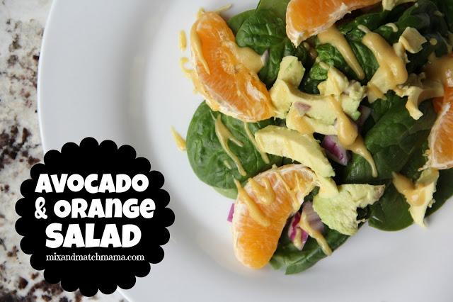 Avocado & Orange Salad Recipe, Avocado & Orange Salad