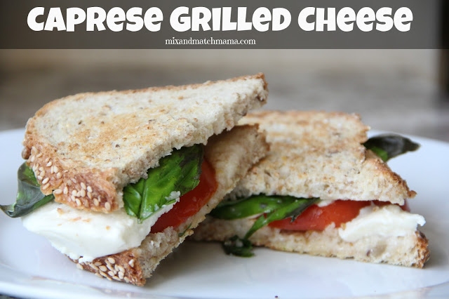 Caprese Grilled Cheese Recipe, Caprese Grilled Cheese