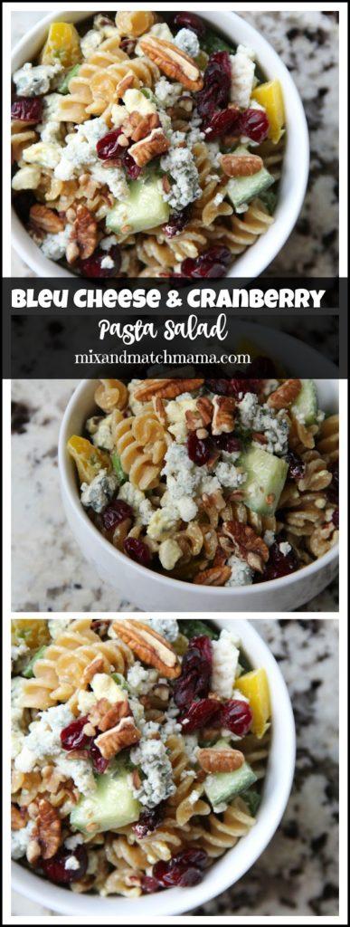 Bleu Cheese & Cranberry Pasta Salad Recipe, Bleu Cheese & Cranberry Pasta Salad