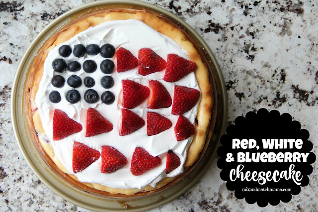 little red, white and blue for your weekend? My festive cheesecake ...