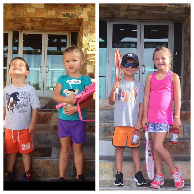 First day of tennis camp 2013 and 2016