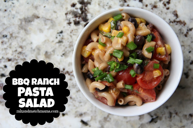 Bbq Ranch Pasta Salad Recipe, BBQ Ranch Pasta Salad
