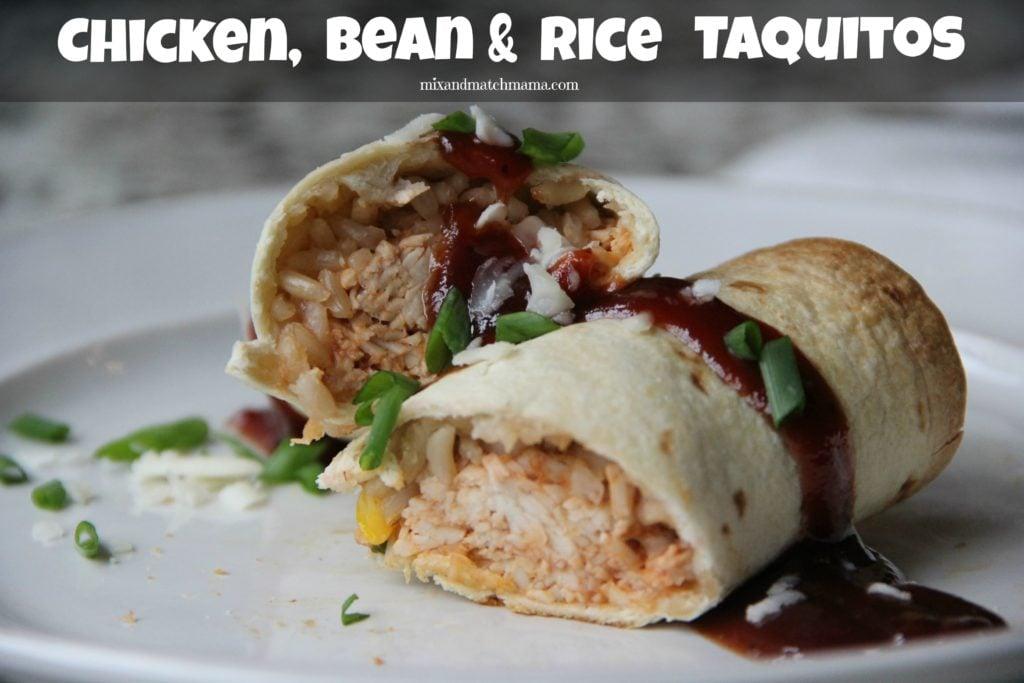 Chicken Bean & Rice Taquitos