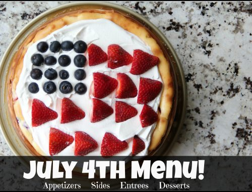 July 4th Menu
