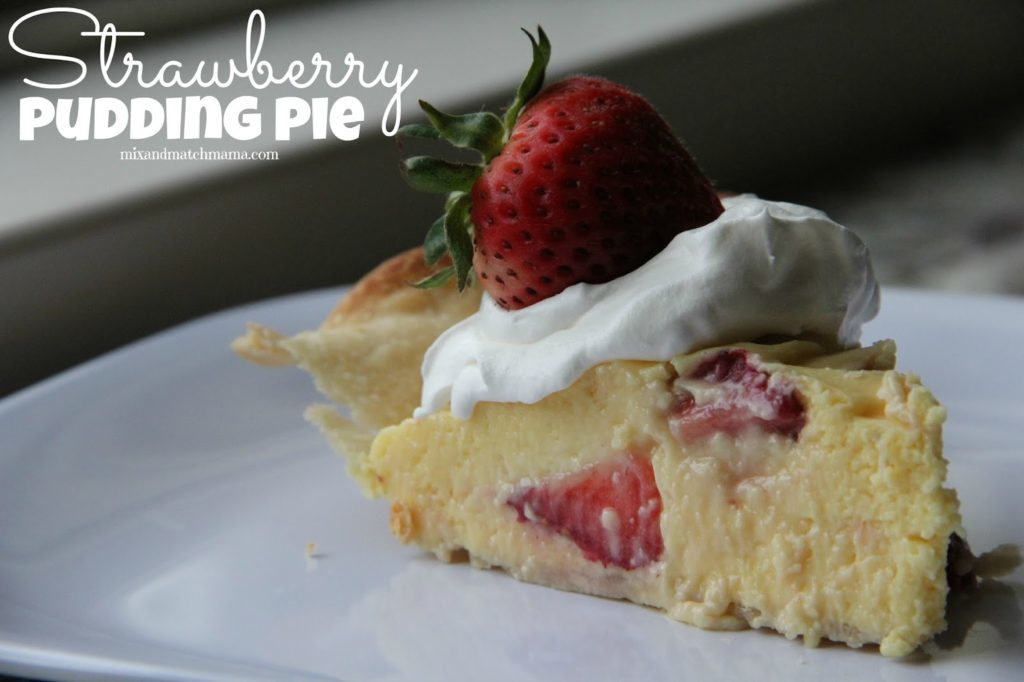 Strawberry Pudding Pie