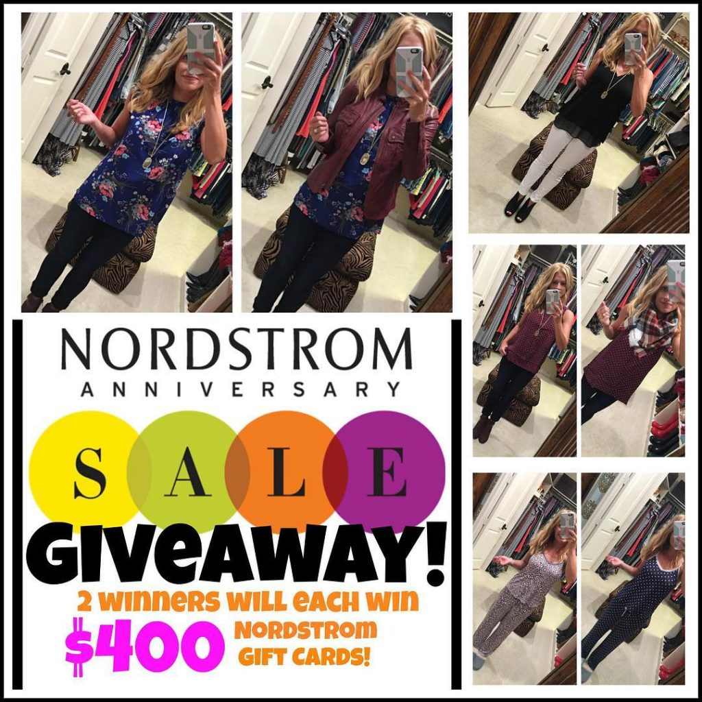 It's my annual @nordstrom Anniversary Sale Giveaway!! The first of two giveaways we're doing!  Two lucky winners will each receive a $400 @nordstrom gift card. Enter to win on my blog  link in profile. Plus, check out all of my favorite pics!  #nsale #sponored #weloveyounordstrom http://liketk.it/2oPiQ @liketoknow.it #liketkit