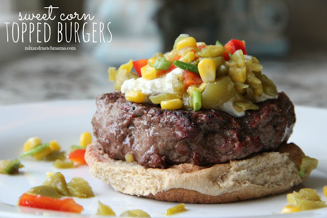 Sweet Corn Topped Burgers