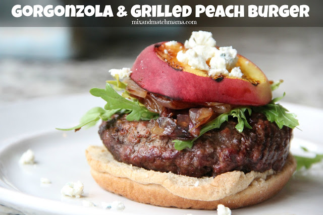 Gorgonzola & Grilled Peach Burger