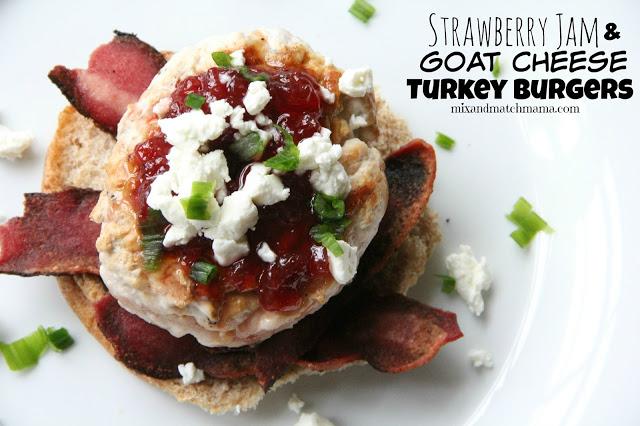Strawberry Jam & Goat Cheese Burger