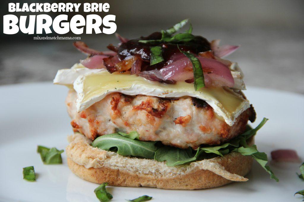 Blackberry Brie Burgers