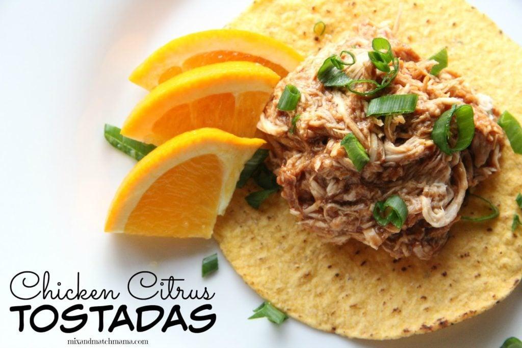 Chicken & Citrus Tostadas