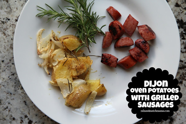 Dijon Over Potatoes with Grilled Sausages