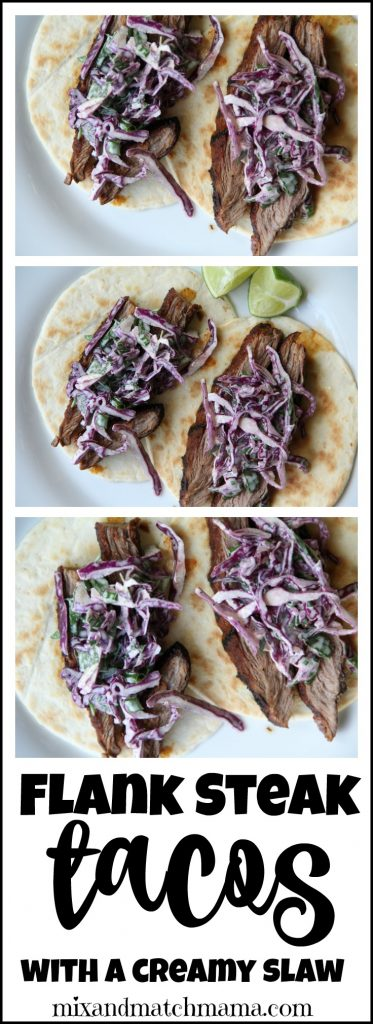 Flank Steak Tacos With A Creamy Slaw Recipe, Flank Steak Tacos with a Creamy Slaw