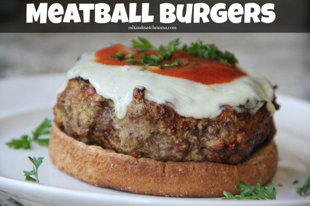 Meatball Burgers Recipe, Meatball Burgers