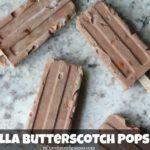 Nutella Butterscotch Popsicles