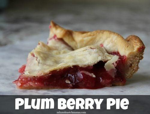 Plum Berry Pie
