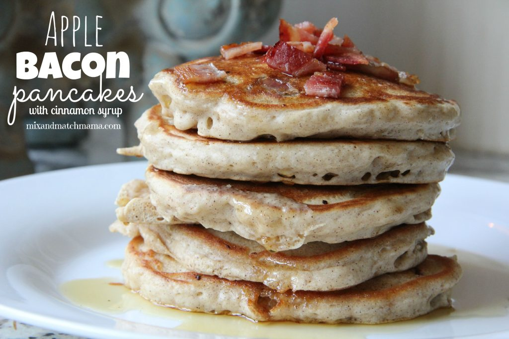 Apple Bacon Pancakes