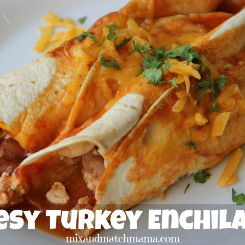Cheesy Turkey Enchiladas