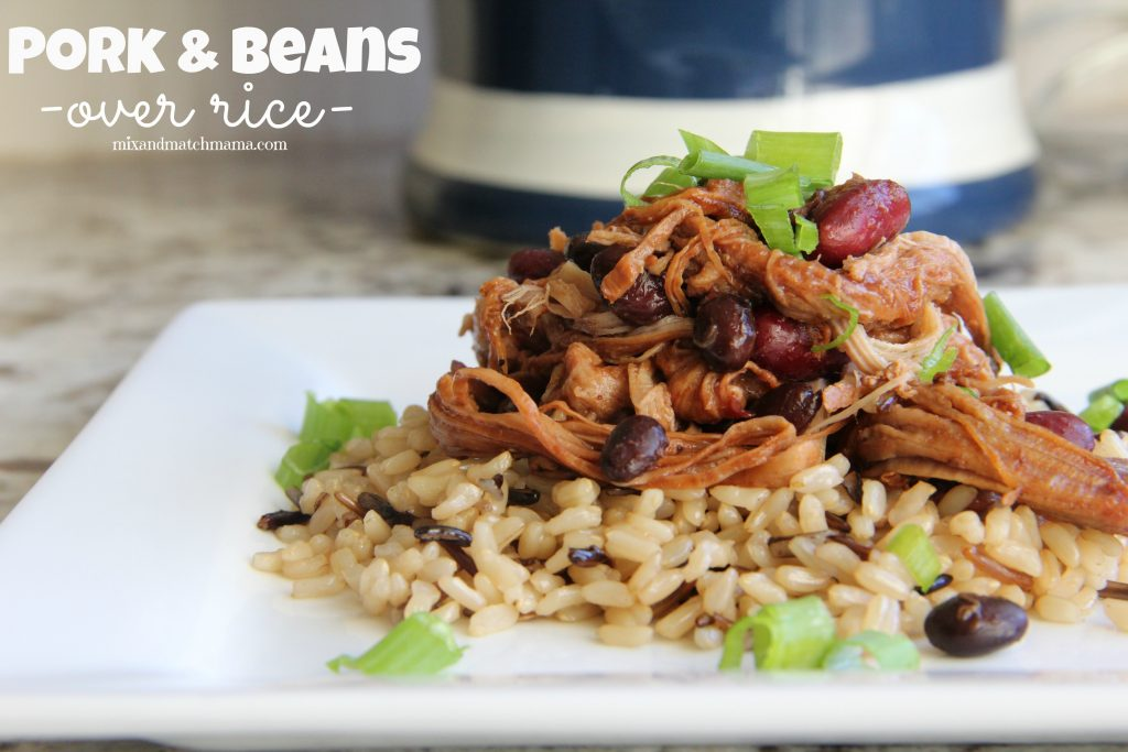 Pork and Beans over Rice