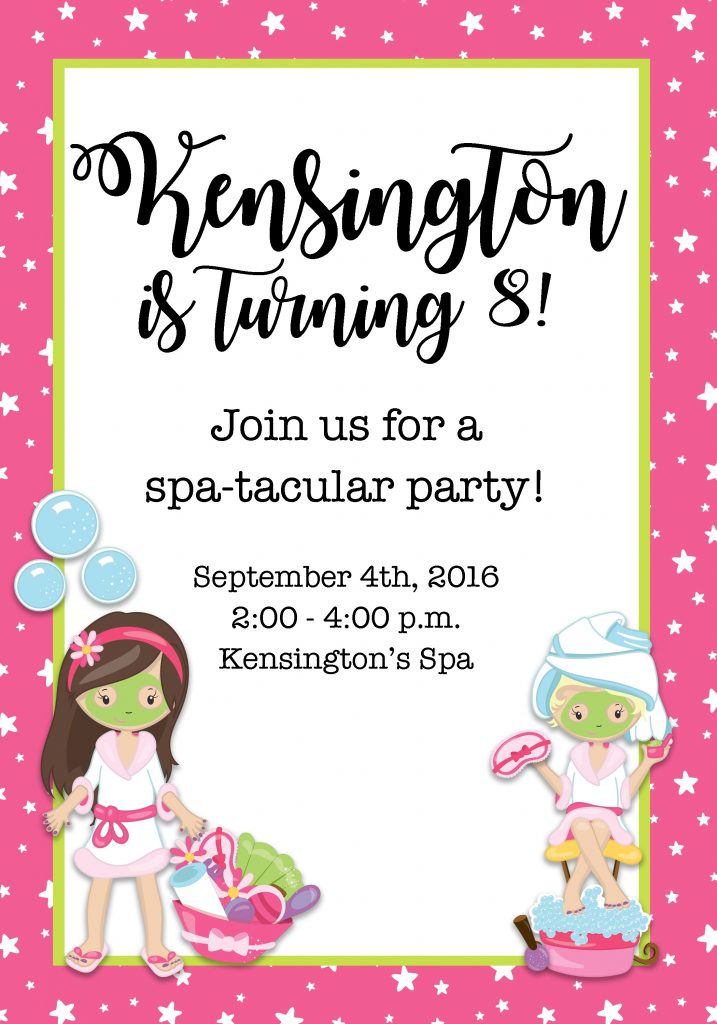 , Kensington's Spa Party