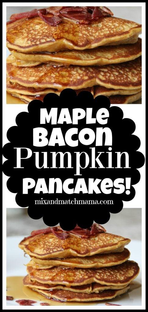 Maple Bacon Pumpkin Pancakes Recipe, Maple Bacon Pumpkin Pancakes