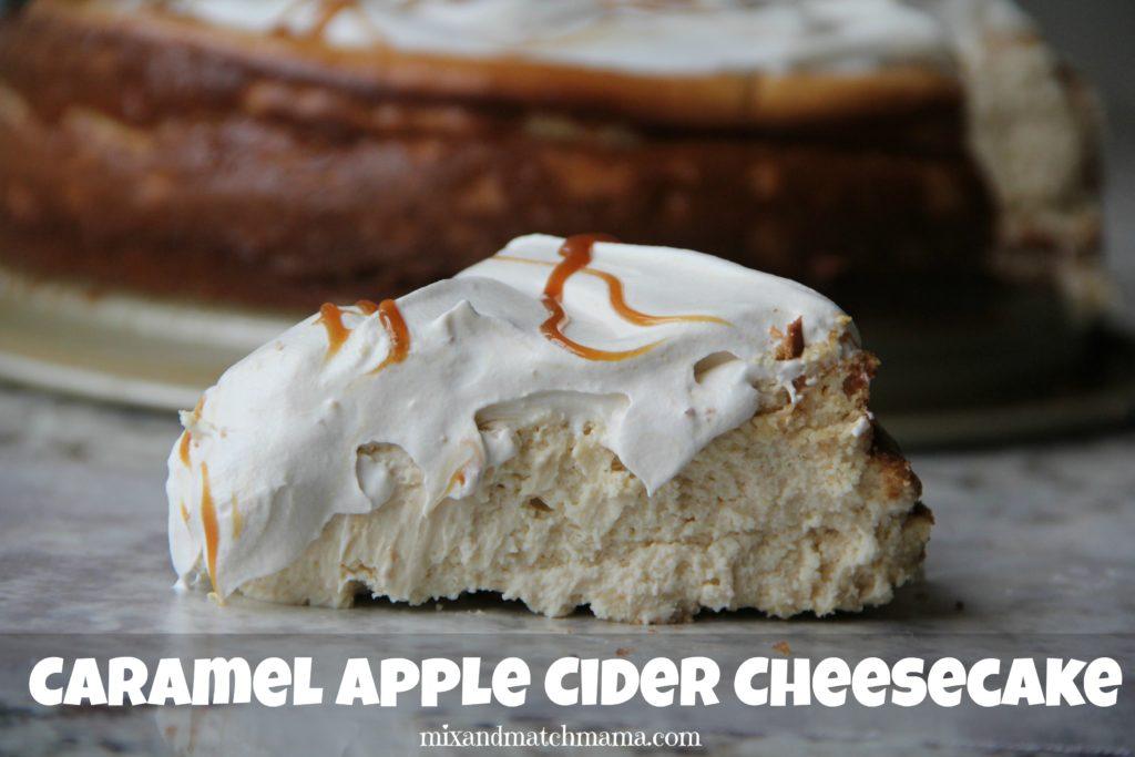 Caramel Apple Cider Cheesecake Recipe, Caramel Apple  Cider Cheesecake