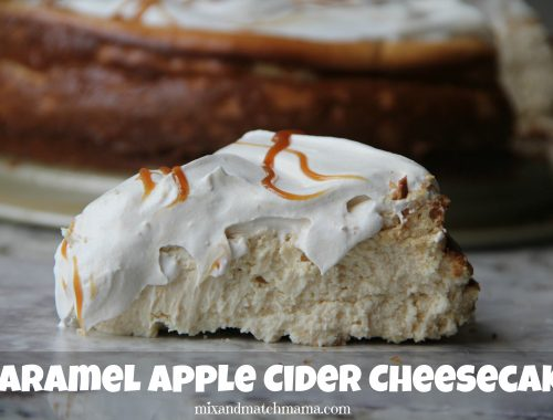 Caramel Apple Cider Cheesecake