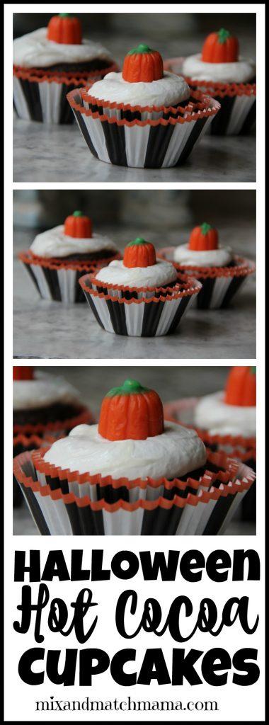Halloween Hot Cocoa Cupcakes Recipe, Halloween Hot Cocoa Cupcakes