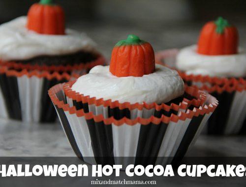 Halloween Hot Cocoa Cupcakes
