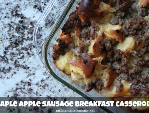 Maple Sausage Apple Breakfast Casserole