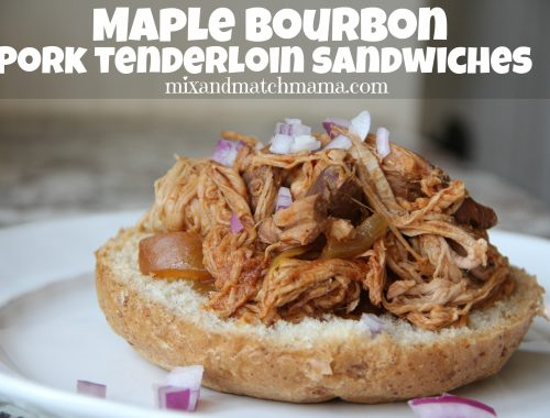 Maple Bourbon Pork Tenderloin Sandwiches