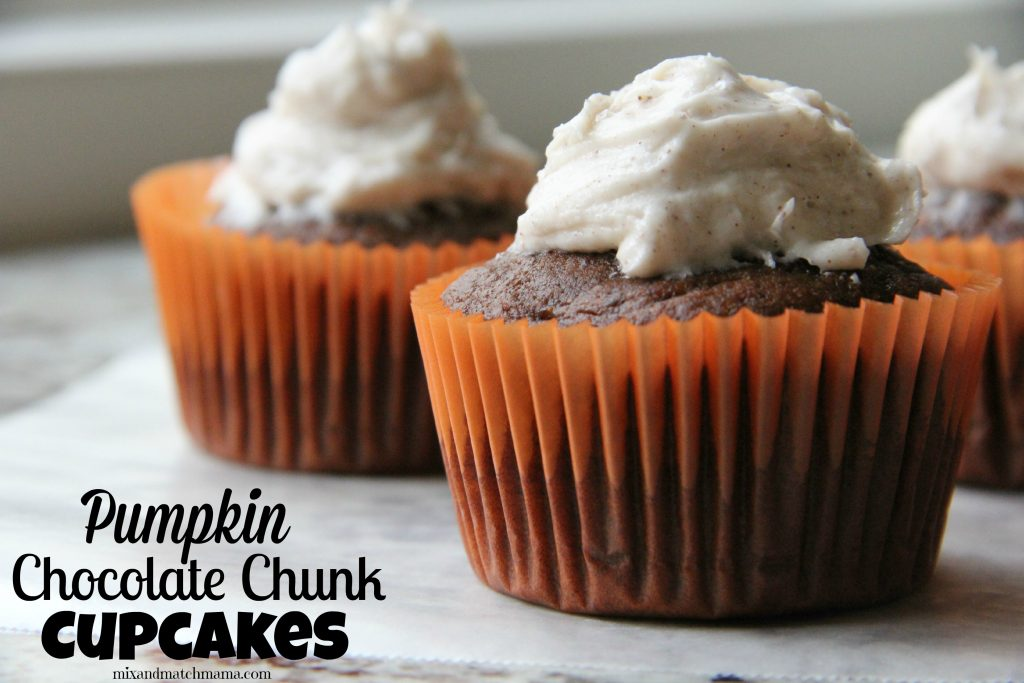 Pumpkin Chocolate Chunk Cupcakes