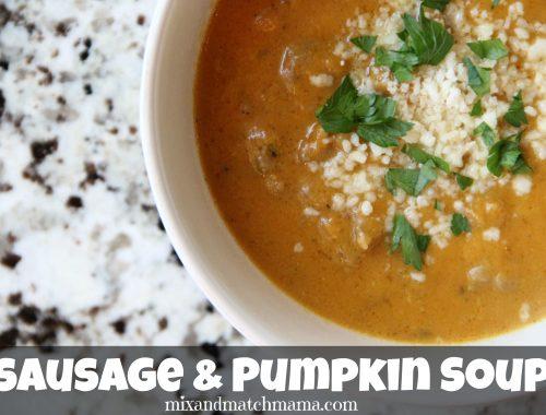 Sausage & Pumpkin Soup