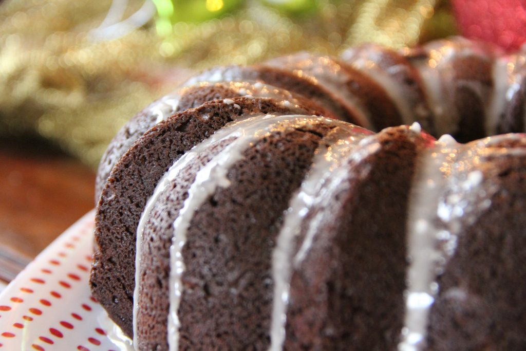 Hot Cocoa Cake Candy Cane Bundt