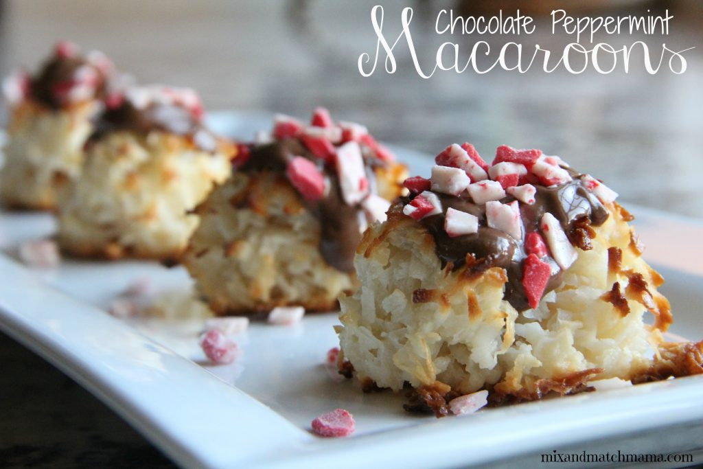 Chocolate Peppermint Macaroons