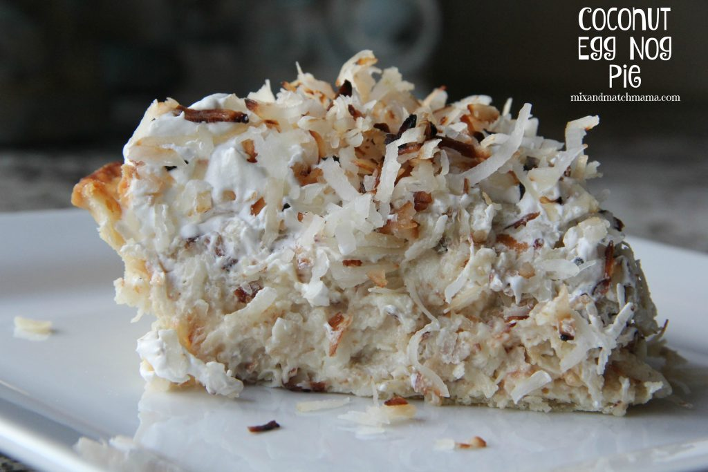 Coconut Egg Nog Pie