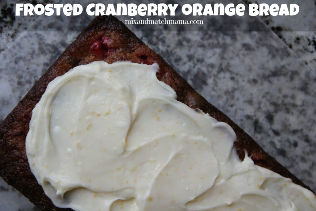Frosted Cranberry Orange Bread